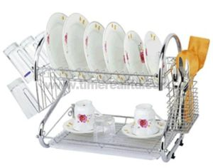 2 Layers Metal Wire Kitchen Dish Rack No. Dr16-2b pictures & photos