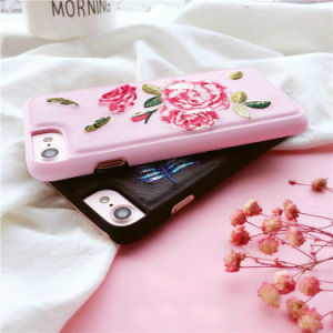 Beautiful Embroidery Flower Handmade Mobile Phone Case for iPhone pictures & photos