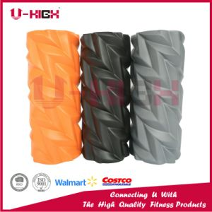 High Density EVA Filled Foam Roller Fitness Equipment Leaf Style pictures & photos