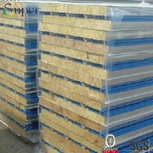 Decoration Material Rockwool/Glass Wool Sandwich Panel for Prefab House pictures & photos