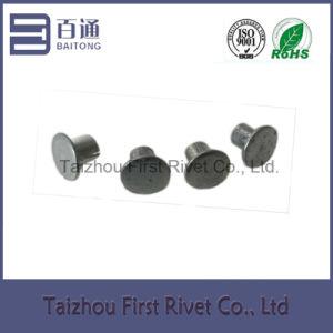 4X4.5mm Zinc Plated Flat Head Semi Tubular Steel Rivet pictures & photos