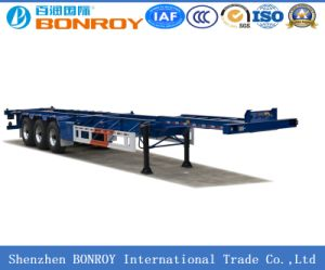 Bonroy 20FT 40FT 2axle 3axle Skeleton Container Semi Trailer pictures & photos