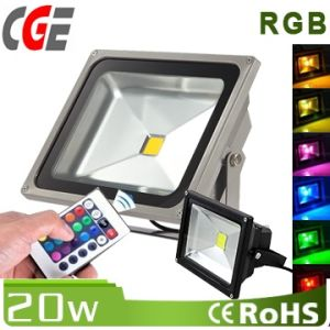 20W IP65 RGB LED Flood Light Used Outdoors pictures & photos