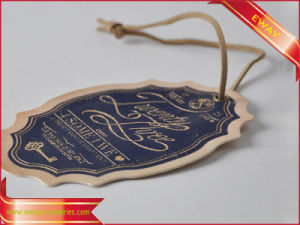 Luxury Paper Hang Tag Women Dress Silver Logo Tag pictures & photos