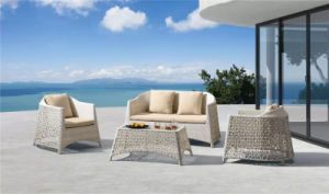 Magic Style Rattan Sofa with Flower Weaving