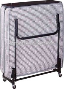 Heavy Duty Wheels Hotel Extra Bed Folding Bed pictures & photos
