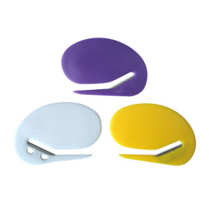 Plastic Ellipse Oval Envelope Letter Opener pictures & photos