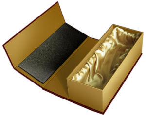 Top Grade Golden Colour Wine Gift Box with Insert (YY--B0238) pictures & photos
