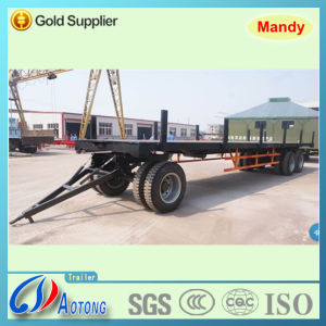 Tri-Axle Full Trailer/Flatbed Cargo Truck Trailer (LAT9371) pictures & photos