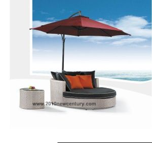 Outdoor Round Sun Bed, Lounger (5034)