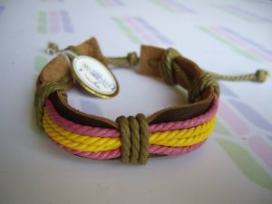 Ethnic Leather Bracelet (SB612122C)