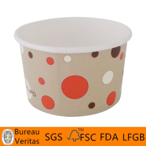 Hot Selling Disposable 16oz Frozen Yogurt Cup Yogurt Cup Design Icecream Paper Cups pictures & photos