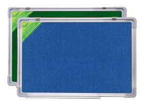 One Side Felt Board/Another Side Whiteboard with Aluminium Frame