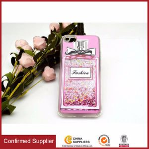 Perfume Bottle Dynamic Flowing Liquid Glitter Quicksand Transparent TPU Case pictures & photos