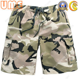 Men′s Printed Boardshorts with 100% Polyester Peach Fabric