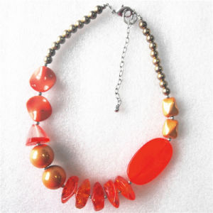 Orange Imitation Crystal Necklace with Different Shape