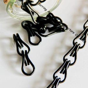 Wholesale Black Colored Double Linked Aluminum Decorative Chain pictures & photos