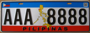 Pilipinas Car License Plate / Number Plate / Vehicle Plate