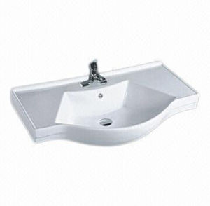 Rectangle Ceramic Cabinet Washbasin, Bathroom Ceramic Cabinet Basin pictures & photos