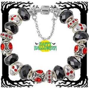 Halloween Silver Charm Bead Bracelet (AE61)