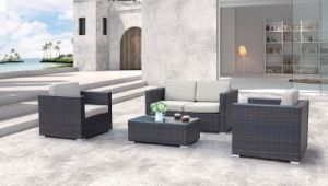 Garden Home Hotel Office Patio Rattan Alaska Lounge Set Outdoor Sofa Set (J664) pictures & photos