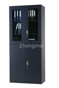 Upper Glass And Below Swing Door Cabinet (ZMLKC09010)