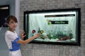 "42"" Cosmetics Transparent LCD Display, 3D Holographic Display pictures & photos"