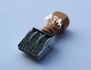 Manual Date Stamp with Wooden Handle pictures & photos