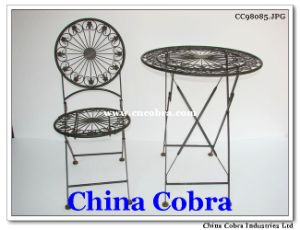 Metal Table and Chair (CC98085)