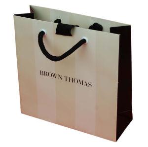 China Nice Quality Printed Paper Shopping Bag with Nylon Handle ...