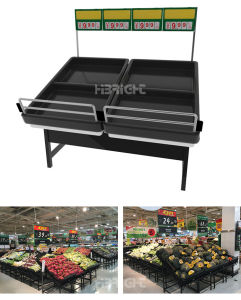 Supermarket New Design Island Vegetable Racks pictures & photos