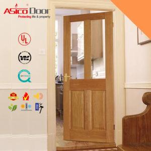 Timber Door Wooden Door Glass, French Door with Vision Panel pictures & photos