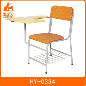 School Classroom Chair with Tablet of Wood Furniture pictures & photos