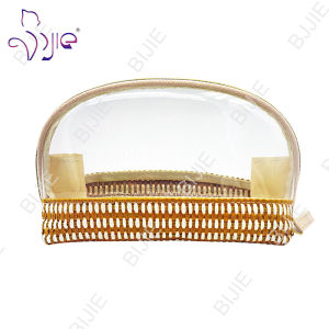 Straw Mat Make up Women Casual Transparent Pouch Bag pictures & photos