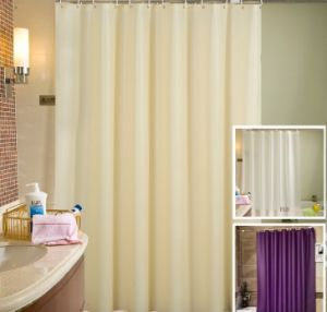 Luxury 100% Polyester Shower Curtain Used for Hotel or Home pictures & photos