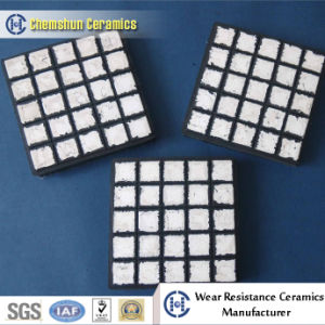Alumina Ceramic Plate on Rubber Mat with Steel Plate pictures & photos
