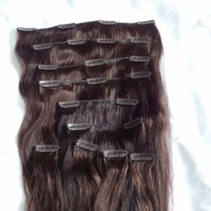 European Straight Human Remy Hair Clip in Extensions Hhci-20 pictures & photos