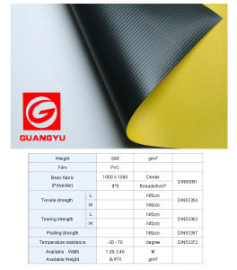 Factory Price PVC Coated Tarpaulin/680GSM 1000*1000 9*9