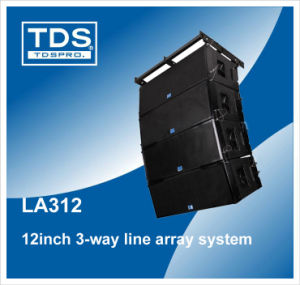 Dual 12′′ Neodymium Line Array (LA312) with 3-Way Cabinet Box Speaker pictures & photos