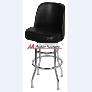 Chrome Double Ring Frame Dining Stool with Swivel Top (ALL-SBS5B-2)