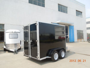 Enclosed Cargo Trailer V Shape with Side Door (GW-BLV12X6X7) pictures & photos