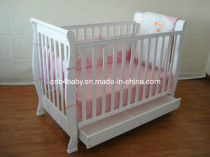 3 in 1 Solid Timber Baby Sleigh Cot