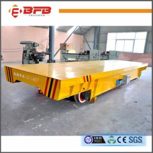 Steel Coil Motorized Electric Transfer Car Kpj 16t with Rails pictures & photos