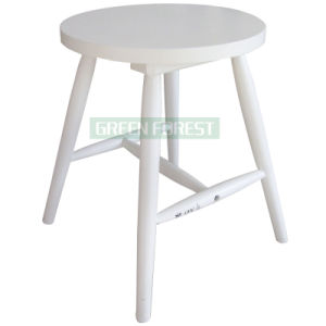 Wooden Round Dining Stool (GF-D023)