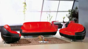 Upholstery Modern Leather Sofa (Q08)