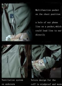New Green Softshell Material Hoodie Jacket (QF-4124) pictures & photos
