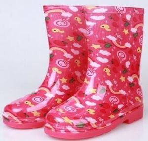 Kids PVC Rain Boots, Clear Jelly Boots for Girl
