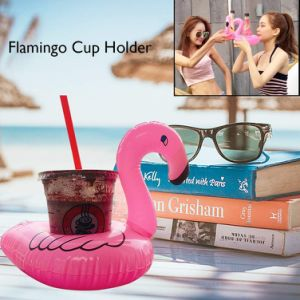 Inflatable Drink Holders, Drink Floats Inflatable Cup Coasters for Pool Party and Kids Bath Toys Flamingos