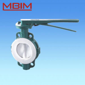 Wafer Style Lever Operation Butterfly Valve (DN40-DN1200) pictures & photos