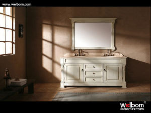 Classic Solid Oak Double Vanity pictures & photos